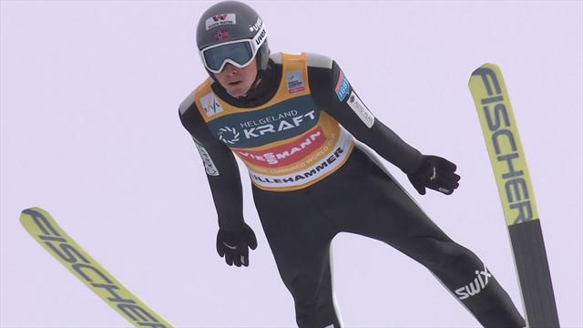 Riiber shines in jump at Lillehammer