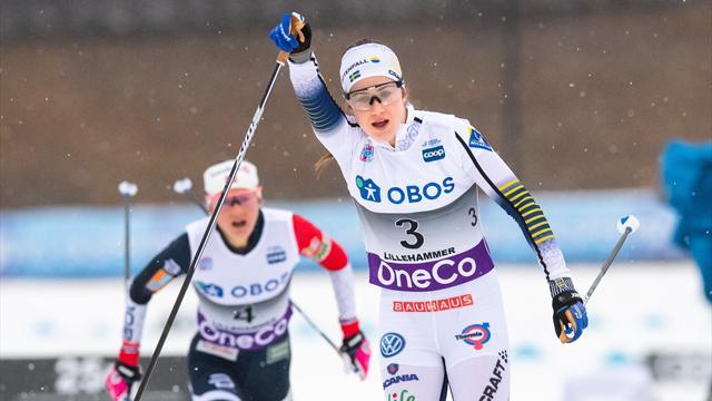 Ny pallplats för Ebba Andersson - tvåa i Lillehammers minitour