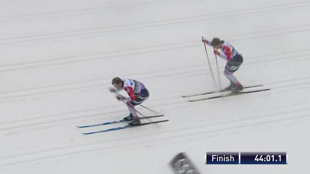Большунов и Ларьков сражались за бронзу в пасьюте, но 3 норвежца и Хальварссон оказались сильнее