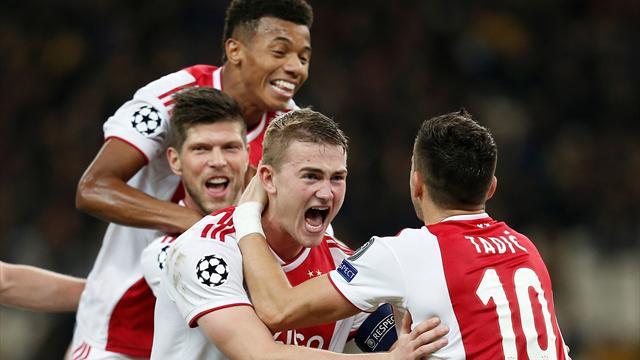 WATCH - De Ligt shows off technique with long-distance goal for Ajax