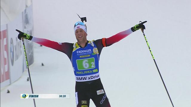 Norway duo dominate single relay in Pokljuka
