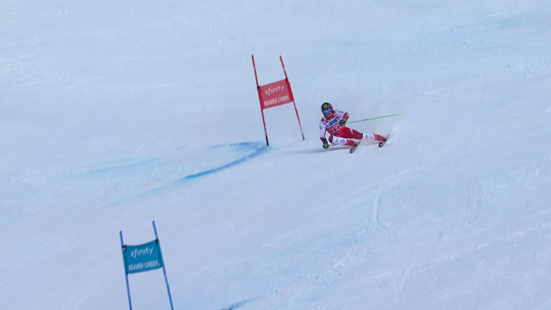 Alpine skiing : Hirscher 2nd run in Beaver Creek
