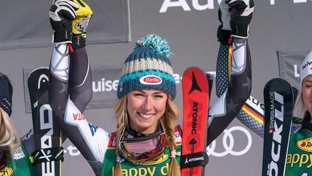 Mikaela Shiffrin gana en Lake Louise el primer supergigante de su carrera