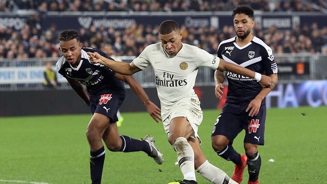 Ligue 1, Girondins-PSG: Neymar y Mbappé no evitan el primer tropiezo del PSG en liga (2-2)