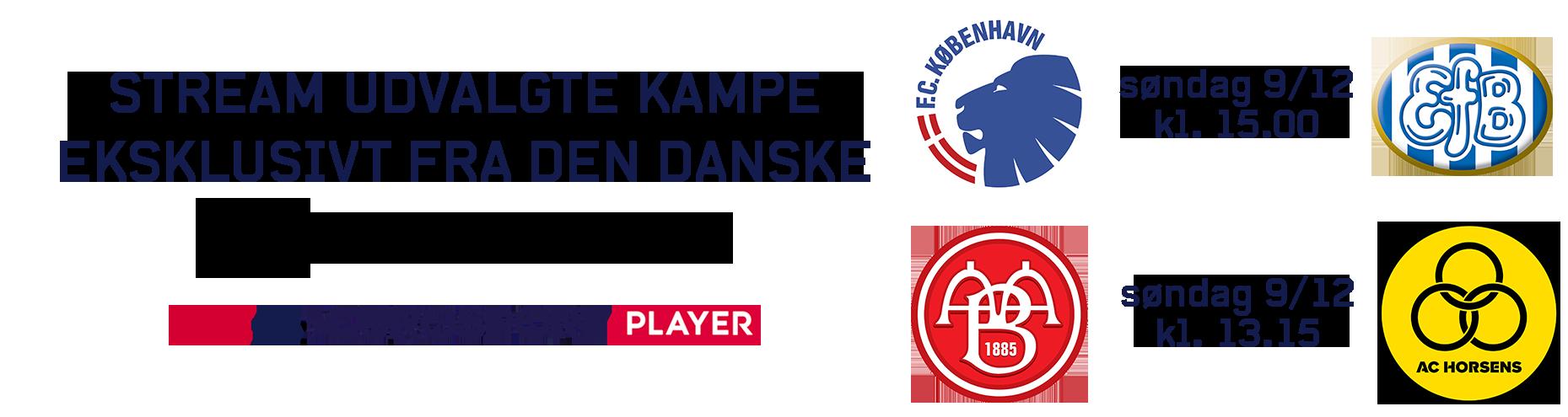 Stream udvalgte Superliga-kampe eksklusivt på Eurosport Player