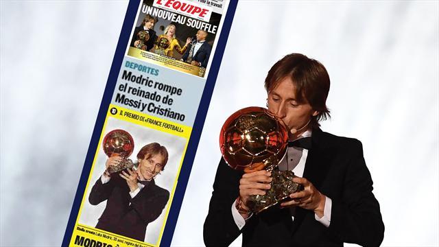 'Oro Blanco', 'Un nuevo aliento', 'Reinado roto'... Las portadas encumbran a Luka Modric