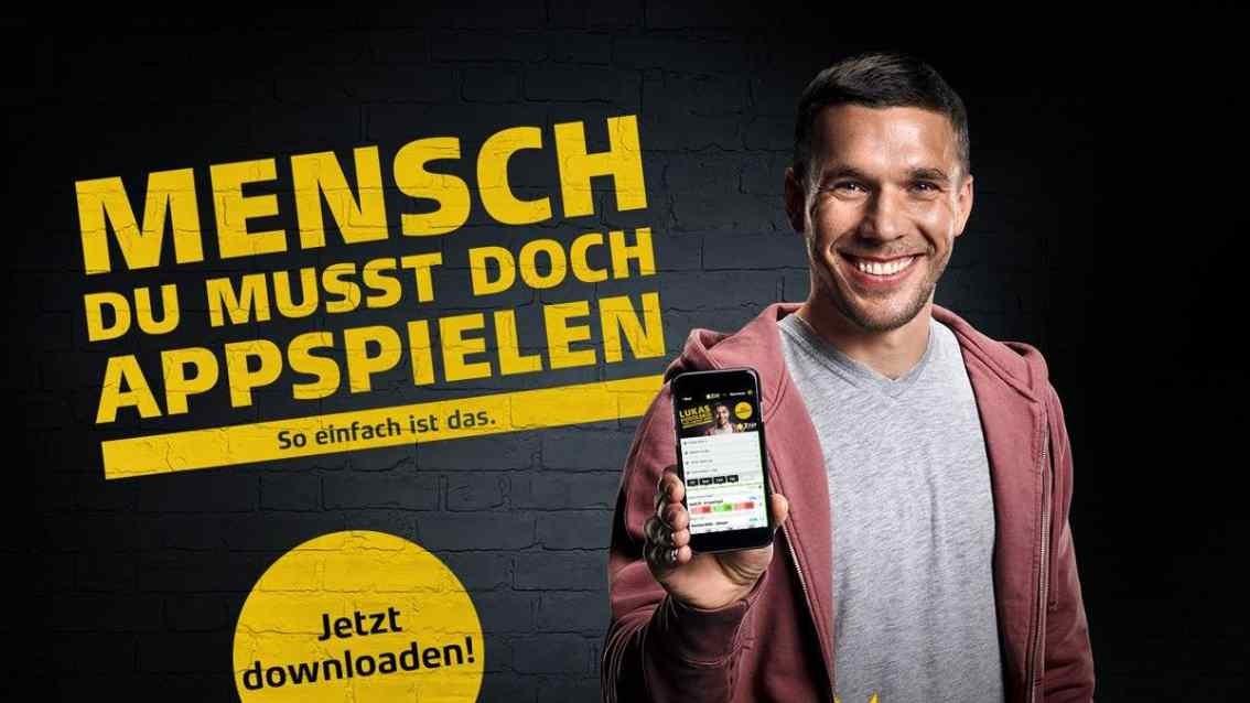 """Lukas Podolski Werbeplakat: Sportwettenanbieter """"XTIP"""""""