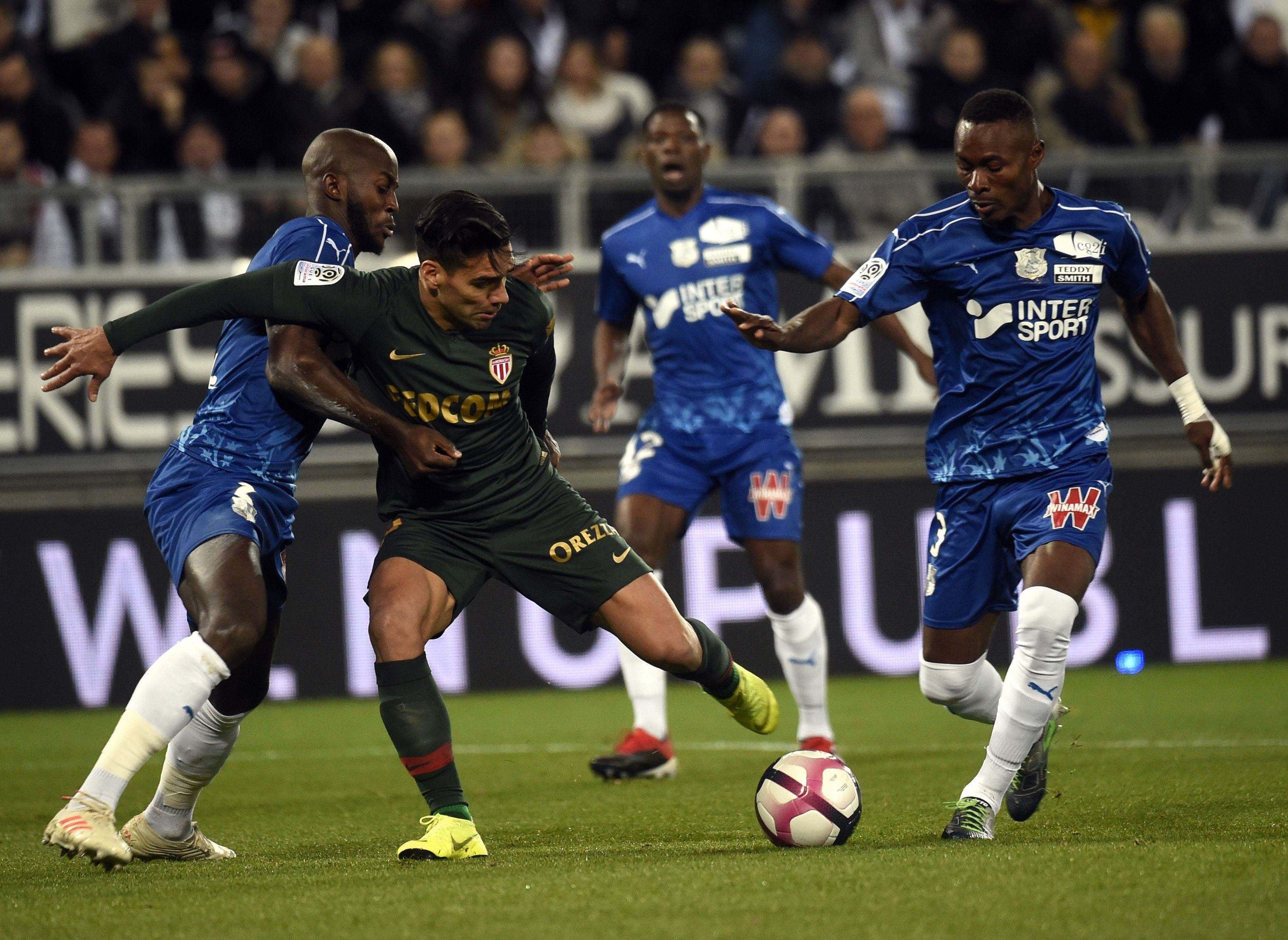 Radamel Falcao lors d'Amiens-Monaco / Ligue 1