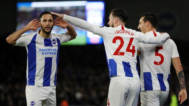 Brighton swat aside Palace despite playing an hour with 10 men