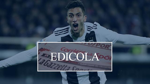 Edicola: la Juve vuole blindare Bentancur ma il Barça offre 60 milioni, l'Inter torna su Darmian