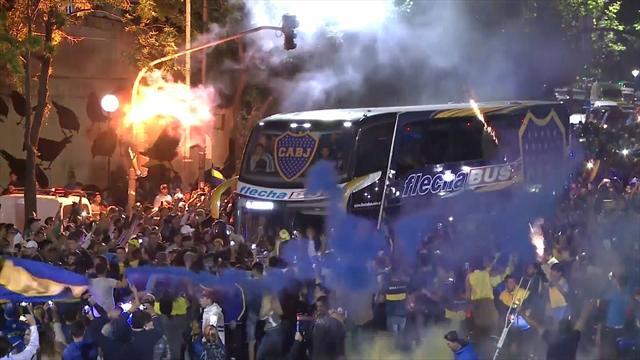 Galen stämning när Boca lämnar Buenos Aires