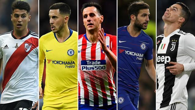 Exequiel Palacios, Hazard, Kalinic, Cesc y Cristiano Ronaldo, los nombres del día