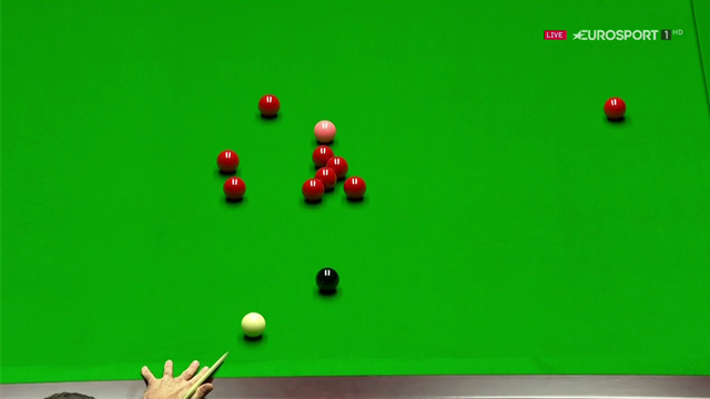 Ronnie O'Sullivan produces a glorious pot on a red