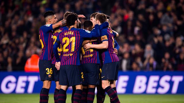 Teenager Puig shines on debut as Barcelona ease into Copa last 16