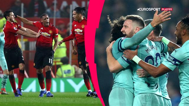 Highlights: Manchester United og Arsenal måtte dele pointene i et drama med fire mål