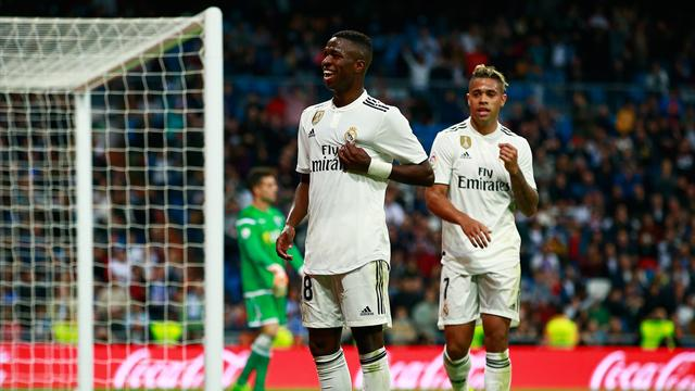 Vinicius Jr scores on first home start as Madrid smash six in Copa del Rey