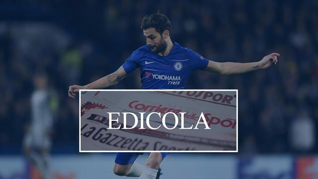 Edicola: il Milan non molla Fabregas, Alex Sandro rinnova con la Juventus