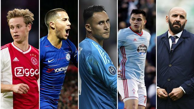 De Jong, Hazard, Maxi Gómez, Keylor Navas y Monchi, los nombres del día