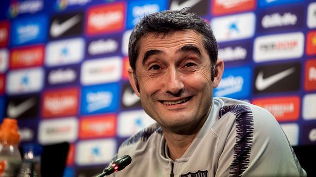 """Ernesto Valverde: """"No espero que el Espanyol haga marcaje individual a Messi"""""""
