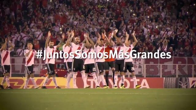 'La fuerza de un equipo', lema de River Plate para la final de la Libertadores
