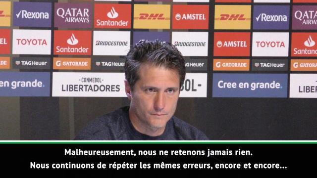 """Libertadores - Schelotto : """"Nous répétons les mêmes erreurs, encore et encore..."""""""