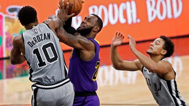 133-120. DeRozan y los reservas de Spurs definen la victoria ante Lakers