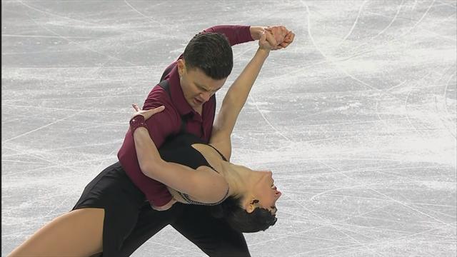 Charlene Guignard e Marco Fabbri secondi da sogno dopo la rhythm dance