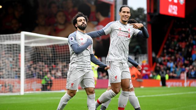 Salah nets hat-trick as Liverpool thrash Bournemouth