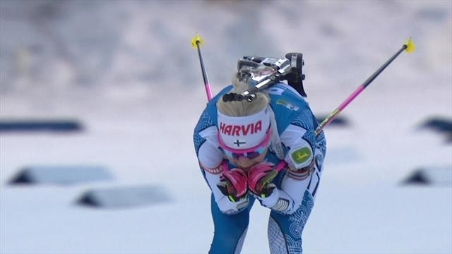 Безупречное выступление Макарайнен в спринте – финка бежала так резво, что за ней не успевали камеры