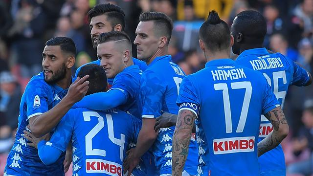 Napoli thrash Frosinone to extend gap in second