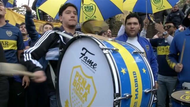 Les supporters de Boca mettent déjà l'ambiance à Madrid !