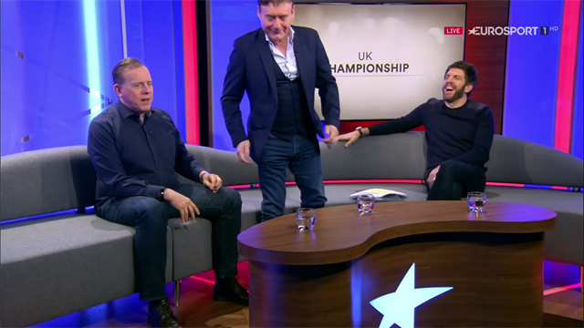 Jimmy White 'storms off' after question about Steve Davis!