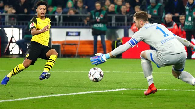 Sancho goal earns Dortmund 2-1 win at Schalke in Ruhr derby