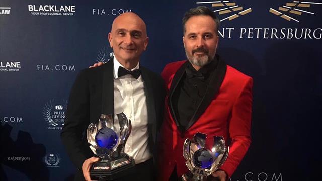 Hamilton presente mientras los ganadores el WTCR OSCARO eran premiados ne Rusia