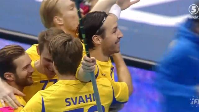 Sverige åter i ledning - Nilsberth tvåmålsskytt