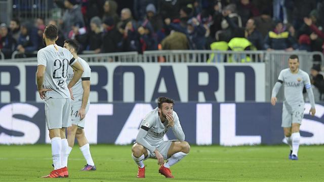 La Roma ha fatto la stupida questa sera! Da 2-0 a 2-2, il Cagliari rimonta in 9