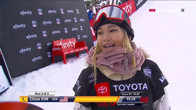 Chloe Kim's stunning winning run