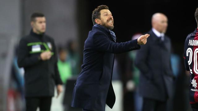 """Di Francesco: """"L'allenatore è relativo durante la gara. Servirebbero i timeout nel calcio"""""""