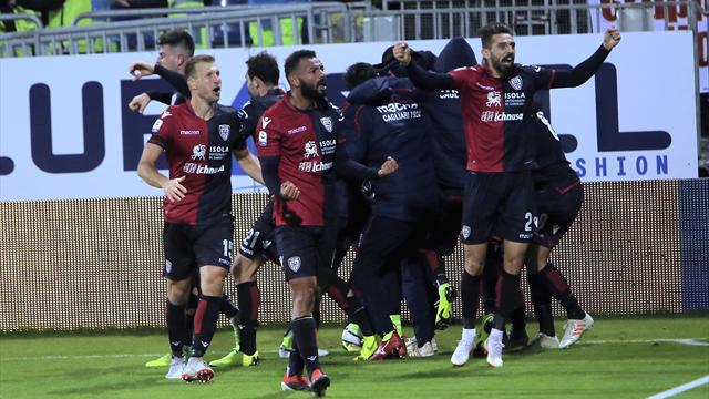 Nine-man Cagliari in late fightback to draw with Roma
