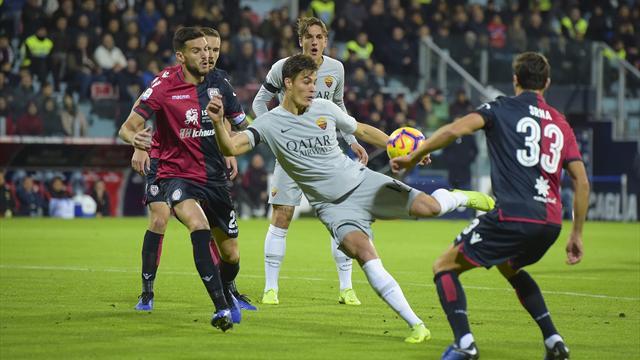 Le pagelle di Cagliari-Roma 2-2: Ionita e Sau ci credono fino alla fine, malissimo Schick