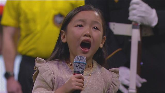 Final MLS: La niña que emocionó al público cantando el himno de Estados Unidos