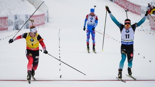Boe l'emporte devant Fillon Maillet à la photo-finish au bout d'une poursuite haletante