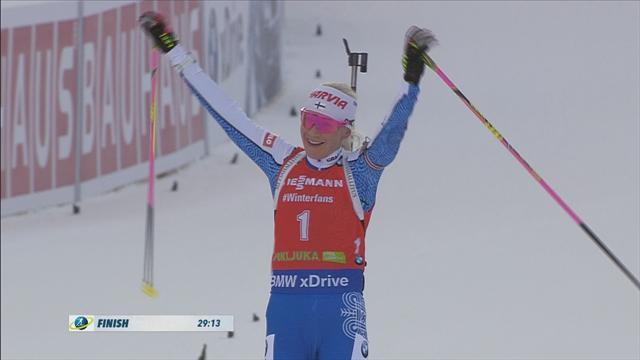 Mäkäräinen na overwinning op de sprint ook superieur in de pursuit
