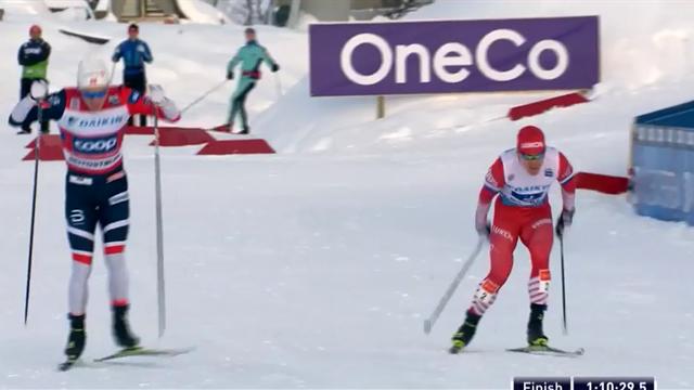 Белов, Большунов, Спицов и Мельниченко долго шли первыми, но проиграли Норвегии жалкие 0,7 секунды