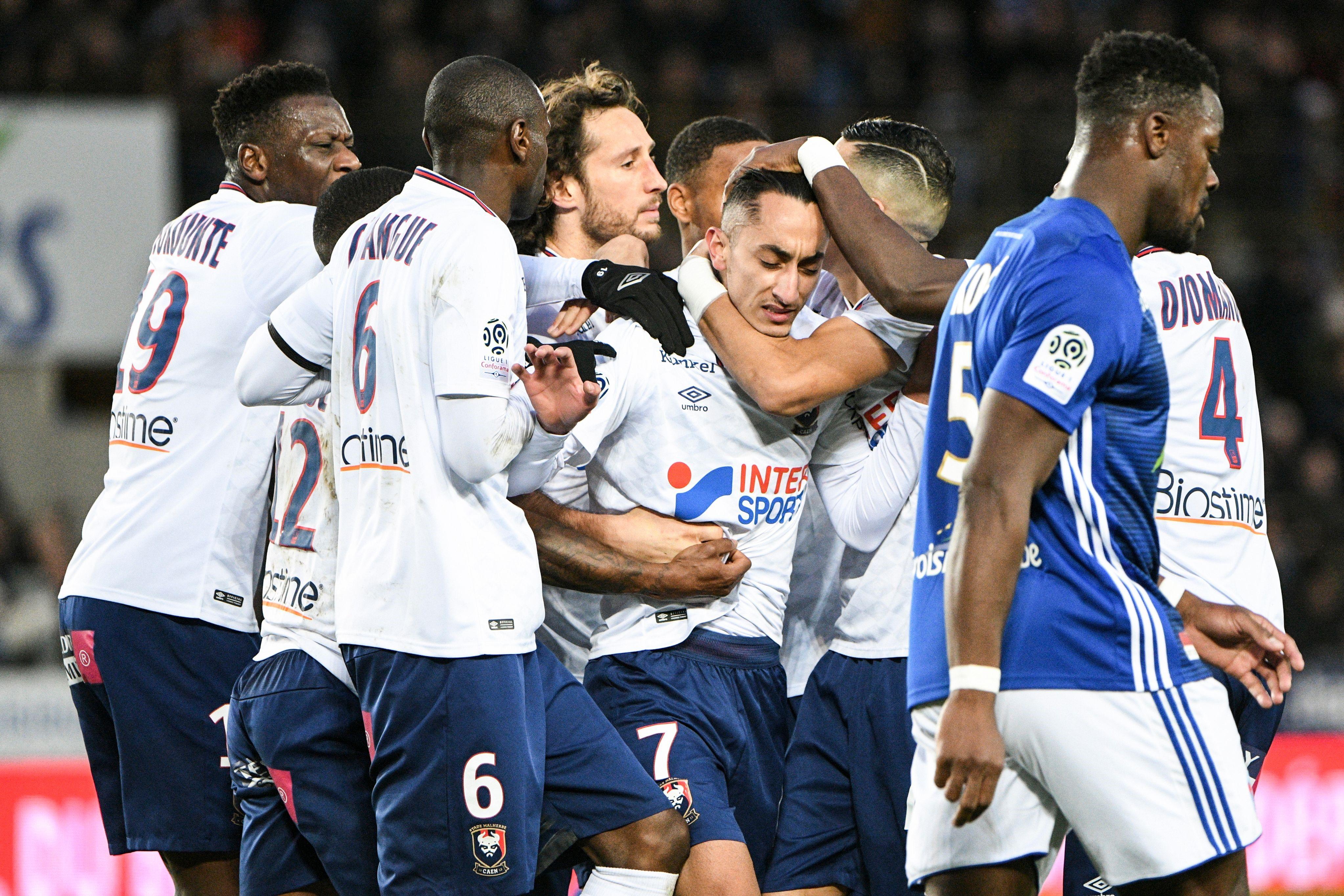 Saîf-Eddine Khaoui lors de Strasbourg-Caen / Ligue 1