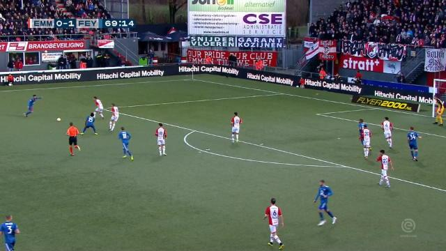 Pays-Bas - Feyenoord puissance 4 en 30 minutes à Emmen