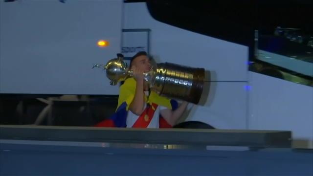 Copa Libertadores - River Plate ramène le trophée à son hôtel