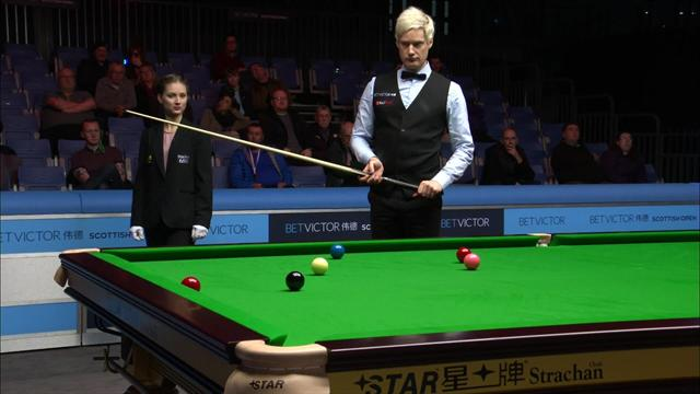 Defending champion Neil Robertson into Scottish Open second round
