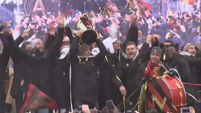 El Tata Martino, protagonista en la celebración del título de la MLS en Atlanta