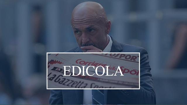 Edicola: Inter, Spalletti in bilico e se Conte arrivasse subito e non a giugno? La Roma sogna Sarri
